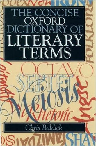 9780192828934: The Concise Oxford Dictionary of Literary Terms (Oxford Paperback Reference)