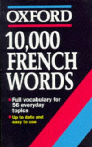 9780192828958: 10,000 French Words (Oxford Quick Reference)