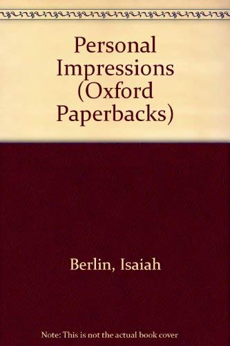 9780192830296: Personal Impressions (Oxford Paperbacks)