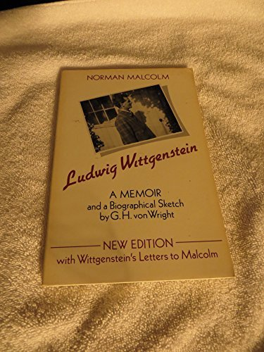 Ludwig Wittgenstein: A Memoir (Oxford Paperbacks): Norman Malcolm; Contributor-Georg