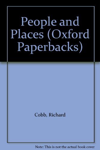 9780192830623: People and Places: Autobiography