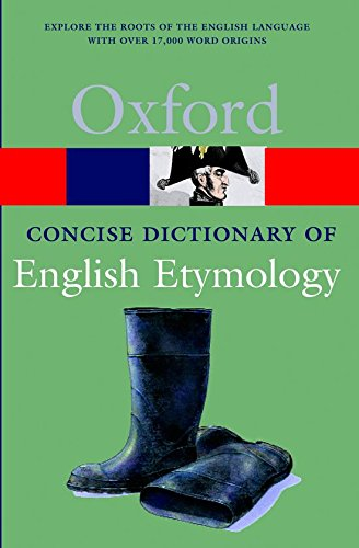 9780192830982: The Concise Oxford Dictionary of English Etymology (Oxford Quick Reference)