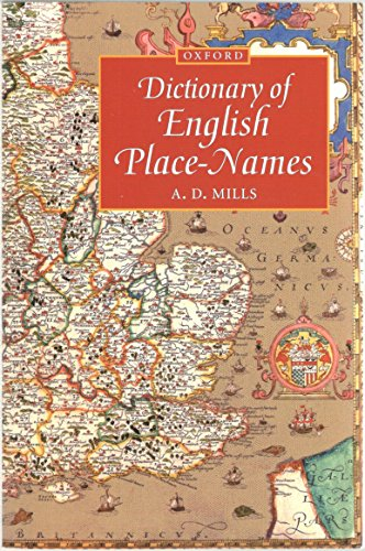 9780192831316: A Dictionary of English Place-names (Oxford Paperback Reference)