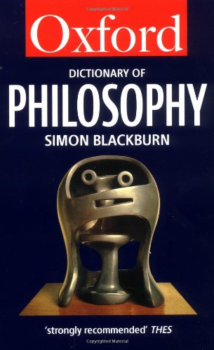9780192831347: The Oxford Dictionary of Philosophy (Oxford Quick Reference)