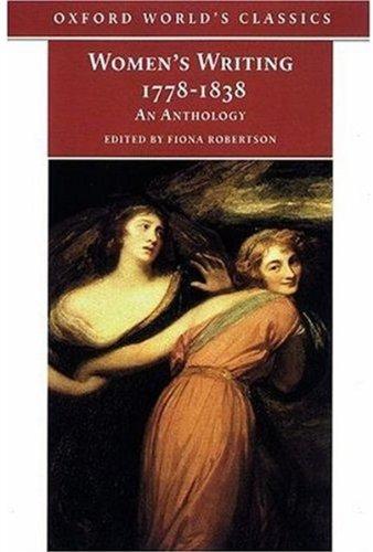9780192833136: Women's Writing 1778-1838.: An Anthology (Oxford World's Classics)