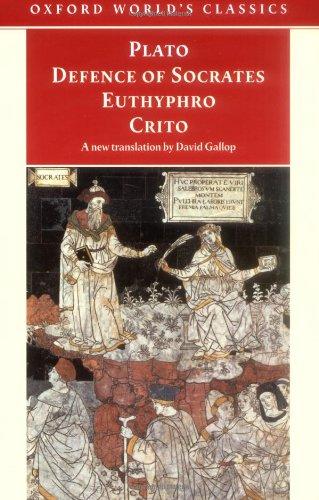 9780192838643: Defence of Socrates, Euthyphro, Crito (Oxford World's Classics)