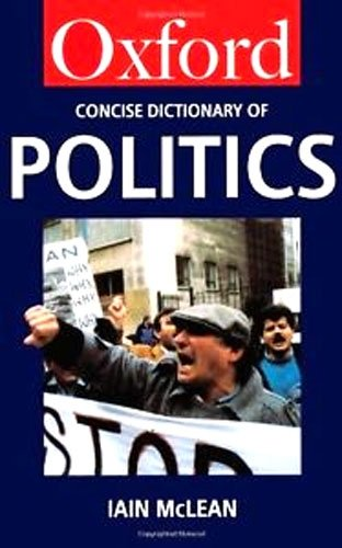 9780192852885: The Concise Oxford Dictionary of Politics (Oxford Paperback Reference)