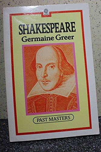 9780192875389: Shakespeare (Past Masters Series)