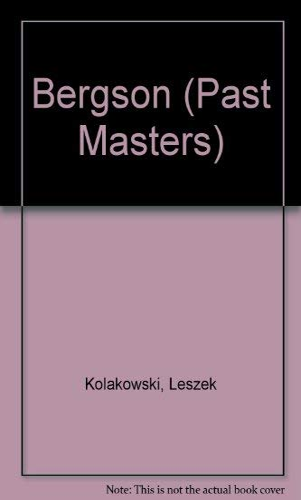 9780192876447: Bergson (Past Masters)