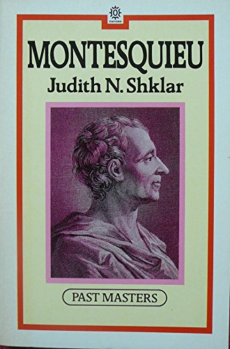 9780192876485: Montesquieu (Past Masters)