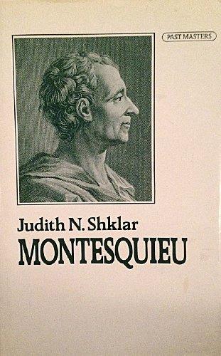 9780192876492: Montesquieu (Past Masters)