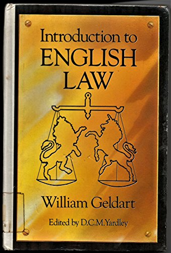 9780192891716: Introduction to English Law (OPUS)