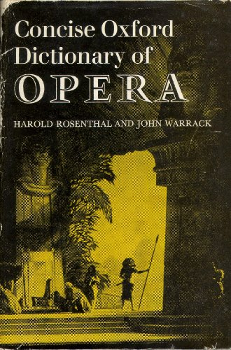 9780193113053: Concise Oxford Dictionary of Opera
