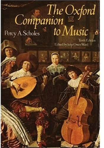 9780193113060: The Oxford Companion to Music (Oxford Reference)