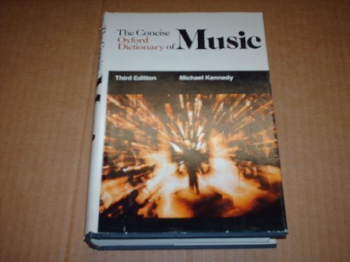 9780193113152: Concise Oxford Dictionary of Music