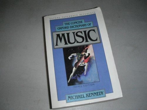 9780193113206: The Concise Oxford Dictionary of Music (Oxford Paperback Reference)