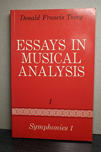 9780193151376: ESSAYS IN MUSICAL ANALYSIS: SYMPHONIES 1