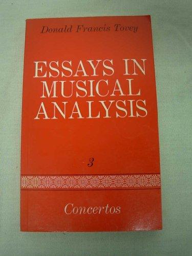 9780193151390: Essays in Musical Analysis: Concertos v. 3