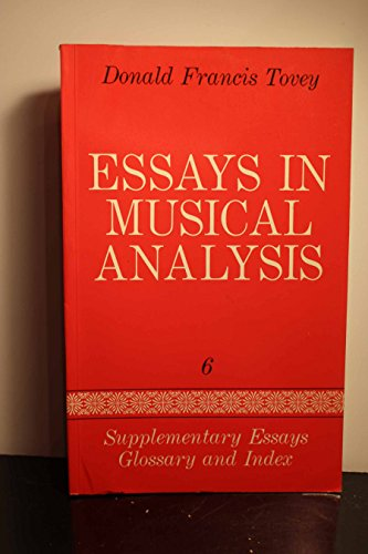 9780193151420: Essays in Musical Analysis, Vol. 6: Supplementary Essays, Glossary, and Index