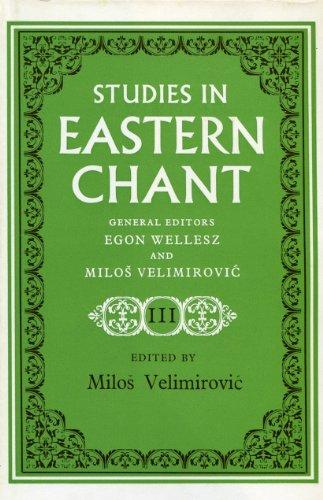 9780193163201: Studies in Eastern Chant: v. 3 [Hardcover] ]