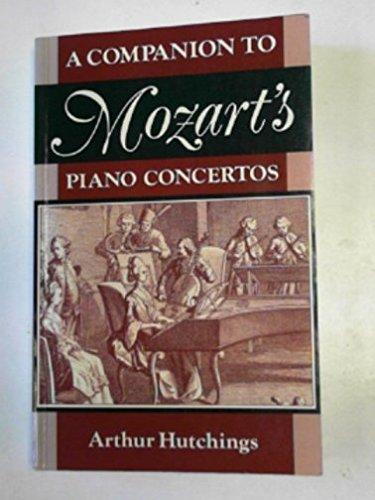 9780193184046: A Companion to Mozart's Piano Concertos