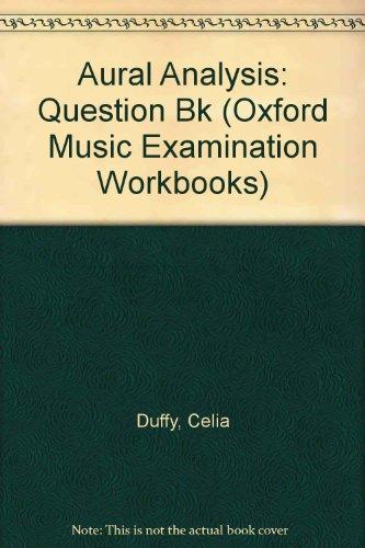 9780193215504: Aural Analysis: Question Bk (Oxford Music Examination Workbooks)