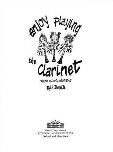 9780193221093: Enjoy Playing the Clarinet Piano Accompaniments (Oxford tutors for clarinet)