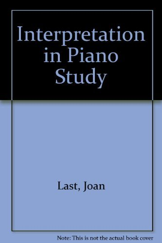 9780193222861: Interpretation in Piano Study