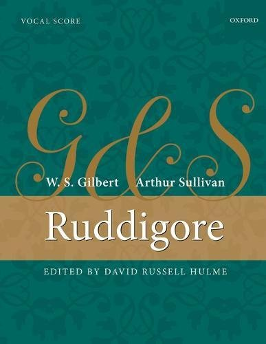 9780193243521: Ruddigore: Vocal score (String Time Joggers)