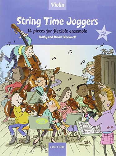9780193359130: String Time Joggers Violin book + CD: 14 pieces for flexible ensemble