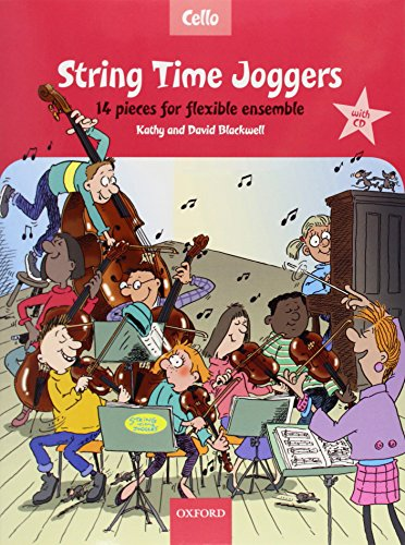 9780193359154: String Time Joggers Cello book + CD: 14 pieces for flexible ensemble