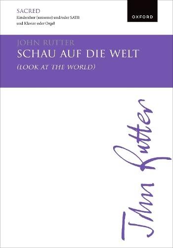 9780193359352: Schau auf die Welt (Look at the world): Vocal score (English and German Edition)
