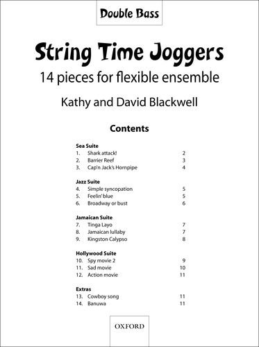 9780193359703: String Time Joggers Double bass part: 14 pieces for flexible ensemble