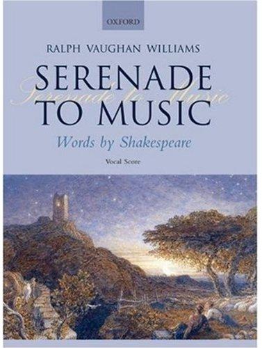 9780193360020: Serenade to Music: Vocal score