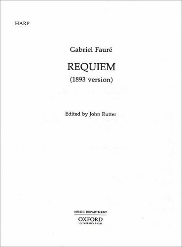 9780193360990: Requiem (1893 version): Harp part (Classic Choral Works)