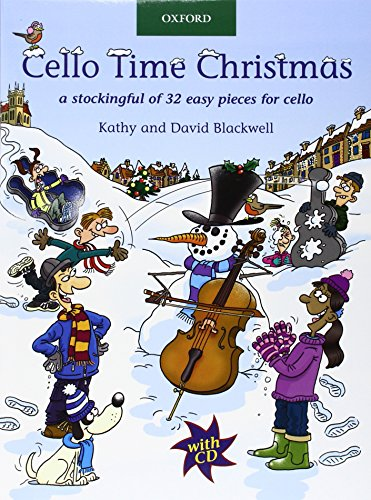 9780193369320: Cello Time Christmas + CD: A stockingful of 32 easy pieces for cello