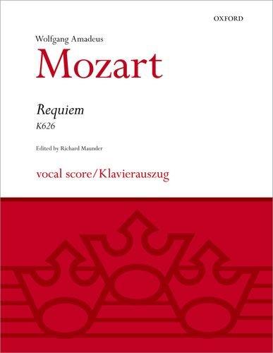Requiem (K626); vocal score/Klavierauszug. Edited by Richard: Mozart, Wolfgang Amadeus