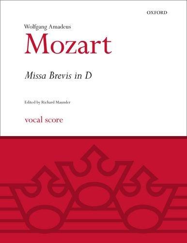 Missa Brevis in D K.194: Vocal Score