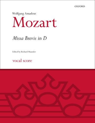 9780193376304: Missa Brevis in D K.194: Vocal score (Classic Choral Works)
