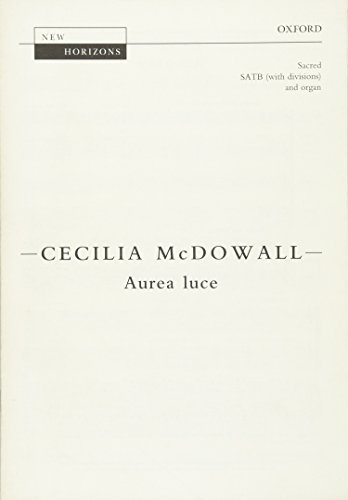 9780193378063: Aurea luce: Vocal score