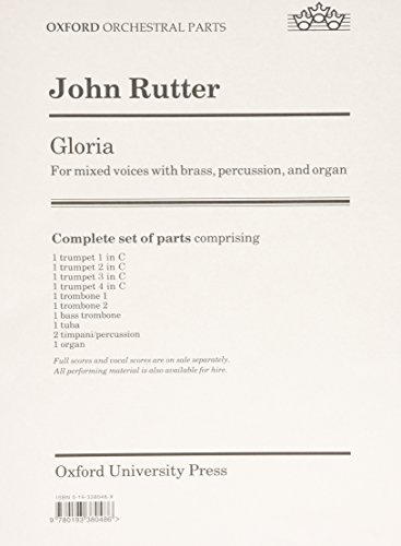 9780193380486: Gloria: Set of parts (brass and organ)
