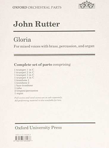 9780193380486: Gloria: Set of parts (brass and organ)