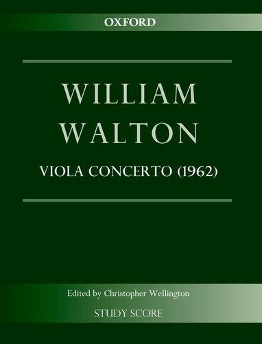 9780193398146: Concerto for Viola and Orchestra (1962): Study score (William Walton Edition)