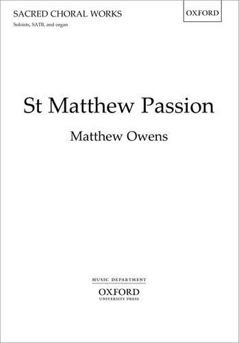 9780193398177: St Matthew Passion: Vocal score