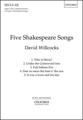 Five Shakespeare Songs: Vocal Score