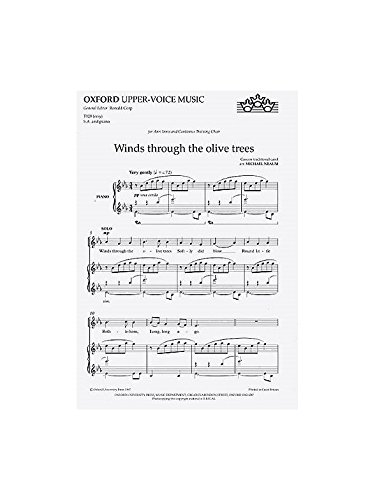 9780193415317: Winds through the olive trees: Vocal score
