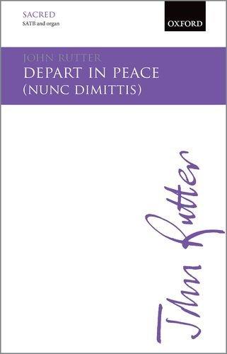 9780193416284: Depart in Peace: Nunc Dimittis