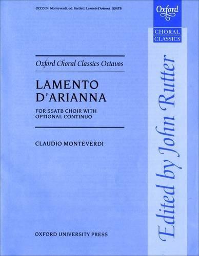 Lamento D'Arianna (Oxford Choral Classics Octavos)