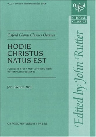 Hodie Christus natus est: Vocal score (Oxford: John Rutter, Jan