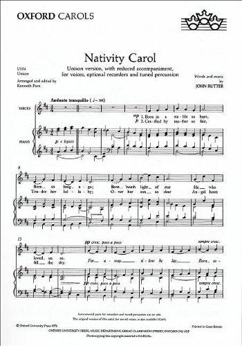 9780193420540: Nativity Carol: Unison vocal score